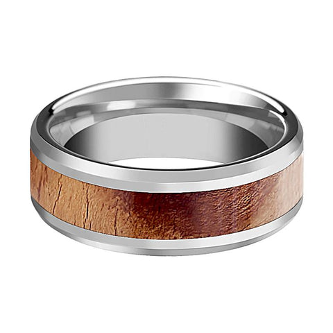 Image of Tungsten Wood Ring - mens tungsten wedding band