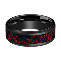 ANTHONY Black Opal Inlay Wedding Band - AydinsJewelry