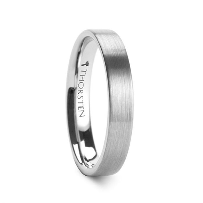 MERCURY Flat Brushed Finish Tungsten Wedding Ring - 4mm - 8mm