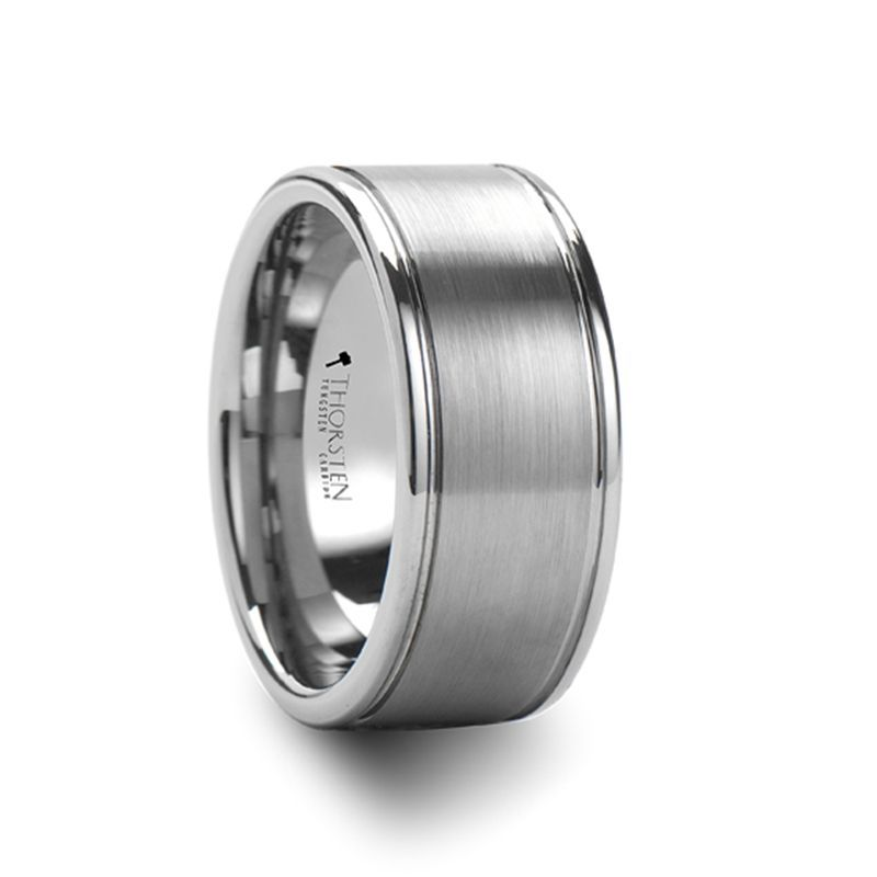 BRIDGEPORT Flat Satin Finish Tungsten Carbide Ring - 6mm - 10mm