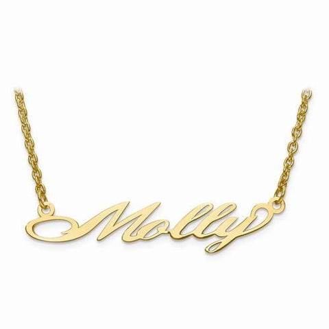 Image of SS Laser Polished Nameplate W/ Chain - AydinsJewelry
