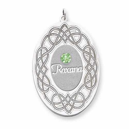 Sterling Silver Crystal Family Pendant - AydinsJewelry