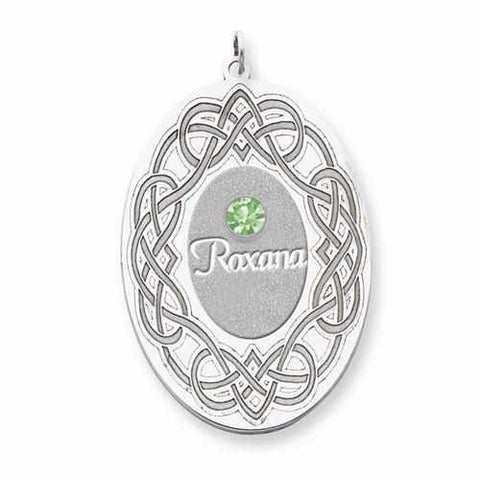 Image of Sterling Silver Crystal Family Pendant - AydinsJewelry