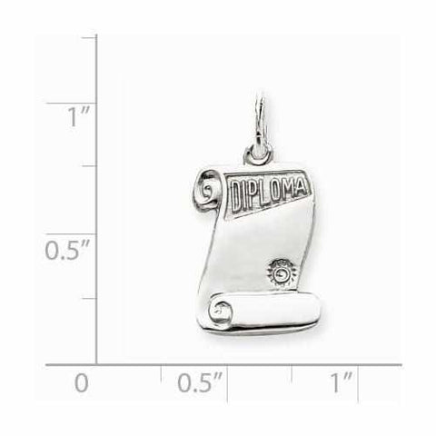 Sterling Silver Diploma Charm - AydinsJewelry
