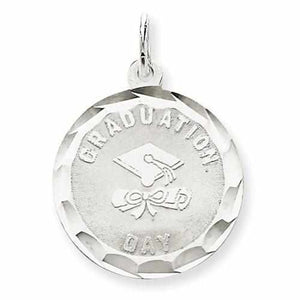 Sterling Silver Graduation Day Disc Charm - AydinsJewelry