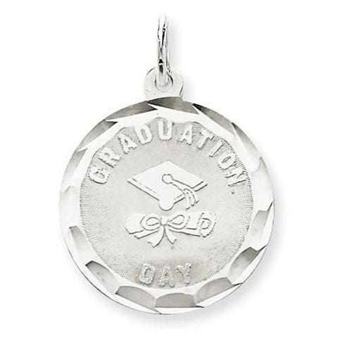 Image of Sterling Silver Graduation Day Disc Charm - AydinsJewelry