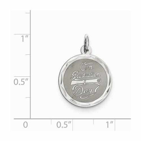 Sterling Silver On Graduation Day Disc Charm - AydinsJewelry