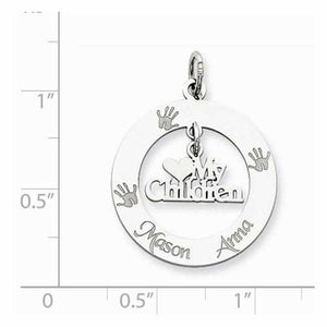 Sterling Silver Personalizable My Children Charm - AydinsJewelry