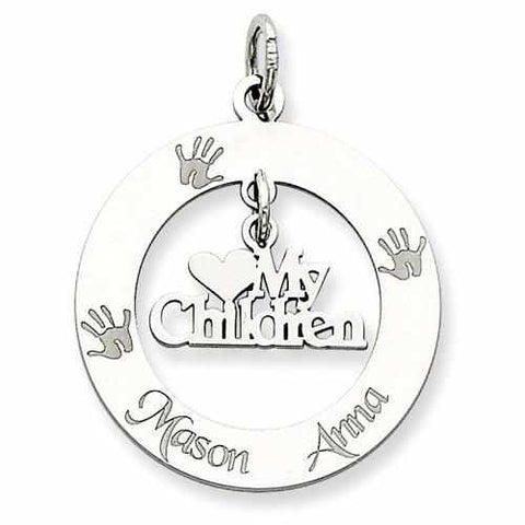 Image of Sterling Silver Personalizable My Children Charm - AydinsJewelry