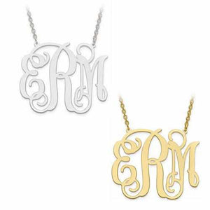 Classic Monogram Necklace - Pendant - Aydins_Jewelry