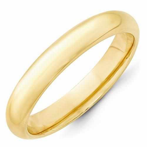 14k Yellow Gold 4mm Standard Comfort Fit Band - AydinsJewelry