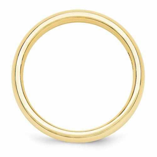 14k Yellow Gold Women's Comfort Fit Name Ring W/ Domed Edges Polished Finish - Rings - Aydins_Jewelry