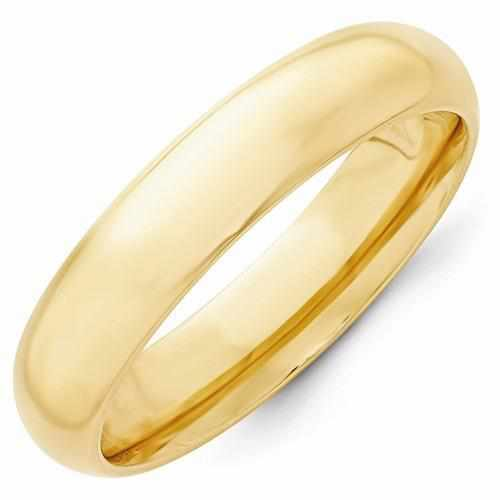14k Yellow Gold 5mm Standard Comfort Fit Band - AydinsJewelry