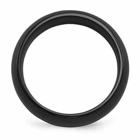 Image of Edward Mirell Titanium Black Ti Band - 8mm - Rings - Aydins_Jewelry