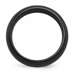 Edward Mirell Titanium Black Ti Band - 8mm - Rings - Aydins_Jewelry