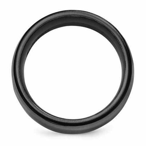 Edward Mirell Titanium Black Ti Ring - 8mm - Rings - Aydins_Jewelry