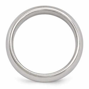 Edward Mirell Titanium Polished Band - 6mm - Rings - Aydins_Jewelry