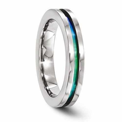 Image of Edward Mirell Titanium Anodized Ring - 4mm - Rings - Aydins_Jewelry