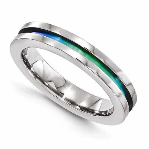 Edward Mirell Titanium Anodized Ring - 4mm - AydinsJewelry