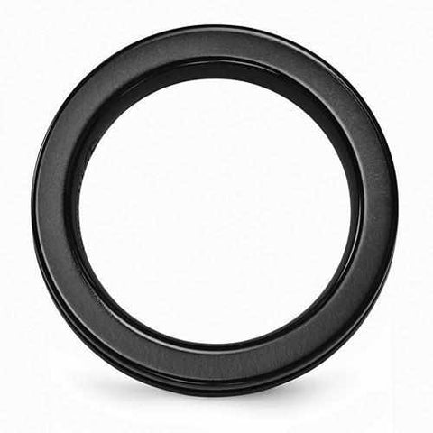 Image of Edward Mirell Black Ti Anodized Ring - 4mm - Rings - Aydins_Jewelry