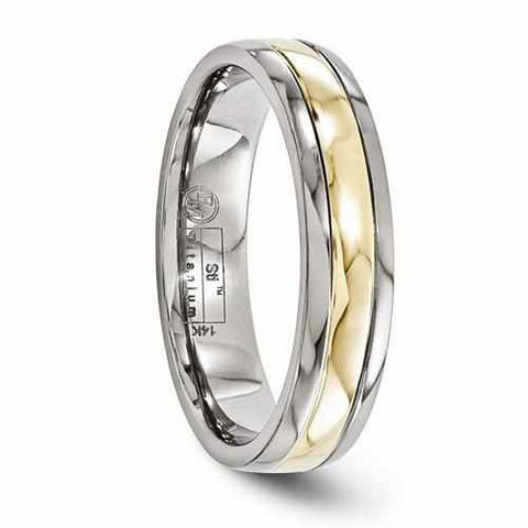Edward Mirell Titanium With 14k Gold Inlay - 5mm - Rings - Aydins_Jewelry
