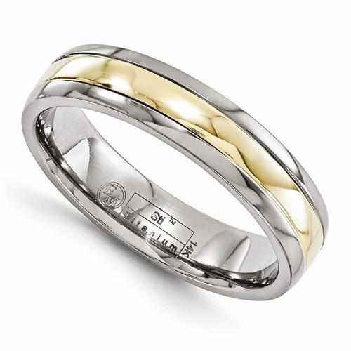 Edward Mirell Titanium With 14k Gold Inlay - 5mm - AydinsJewelry