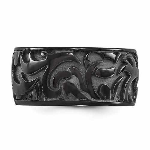 Edward Mirell Black Ti Casted Ring - 11mm - Rings - Aydins_Jewelry