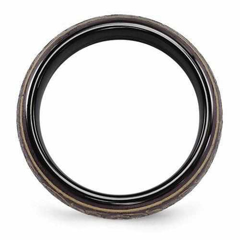 Image of Edward Mirell Black Ti Domed Anodized Copper Color Ring - 6mm - Rings - Aydins_Jewelry