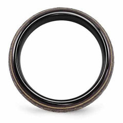 Edward Mirell Black Ti Domed Anodized Copper Color Ring - 6mm - AydinsJewelry