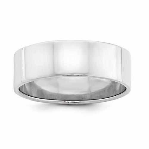 Sterling Silver 7mm Flat Band - AydinsJewelry