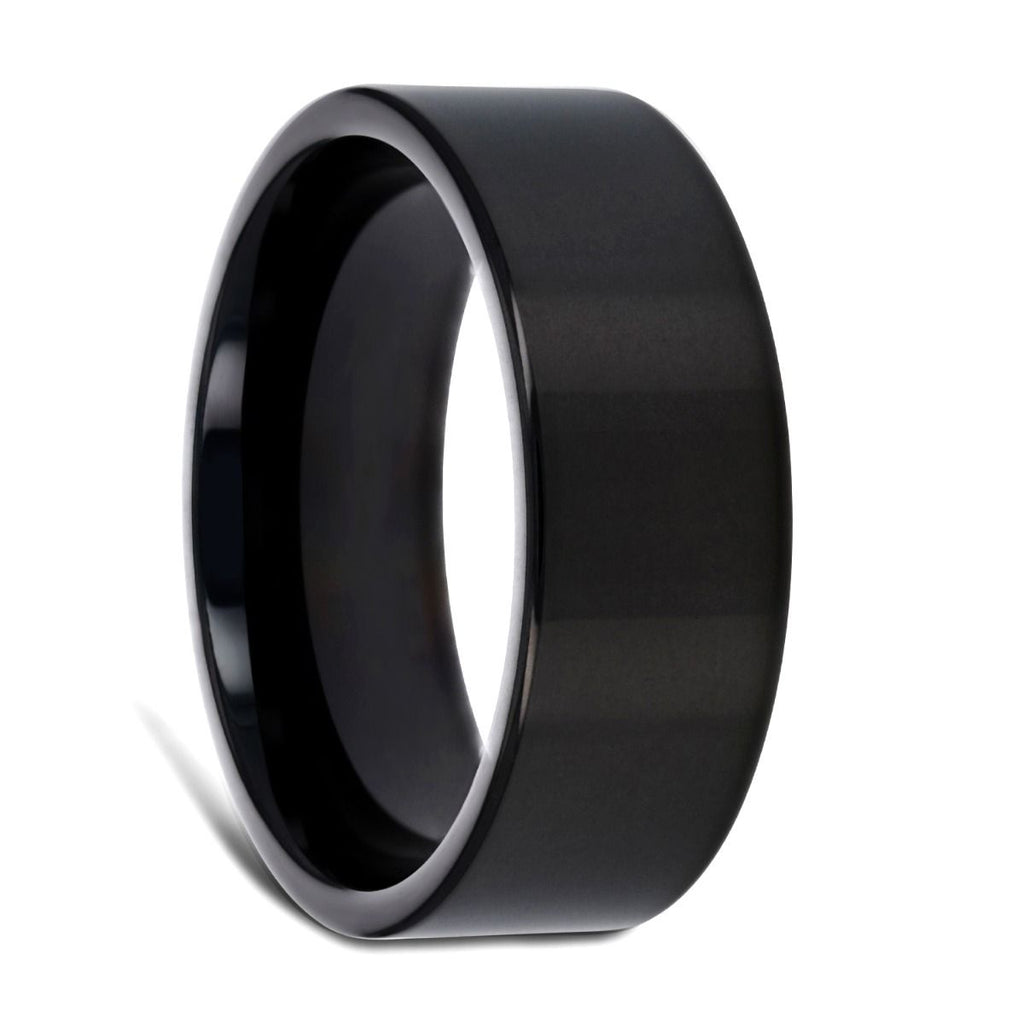 NEO Flat Black Titanium Wedding Ring - 8 mm