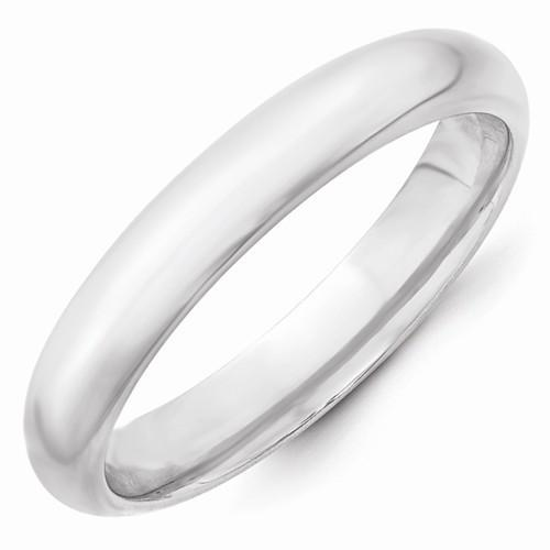 14k White Gold 4mm Standard Comfort Fit Band - AydinsJewelry