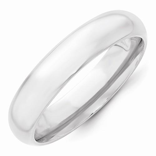 14k White Gold 5mm Standard Comfort Fit Band - AydinsJewelry