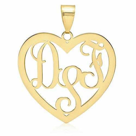 Image of Heart Monogram Pendant - Pendant - Aydins_Jewelry
