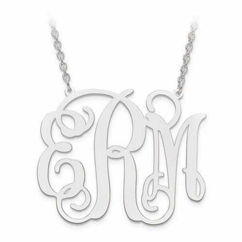 Image of Classic Monogram Necklace - Pendant - Aydins_Jewelry