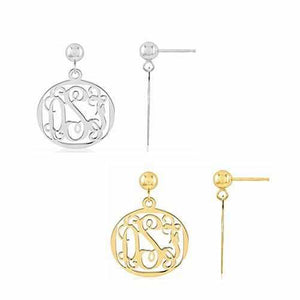 Round Monogram Earrings - AydinsJewelry