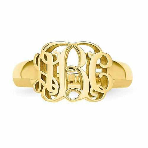 Image of Monogram Signet Ring - AydinsJewelry