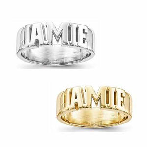 Casted High Polished Name Ring - Rings - Aydins_Jewelry