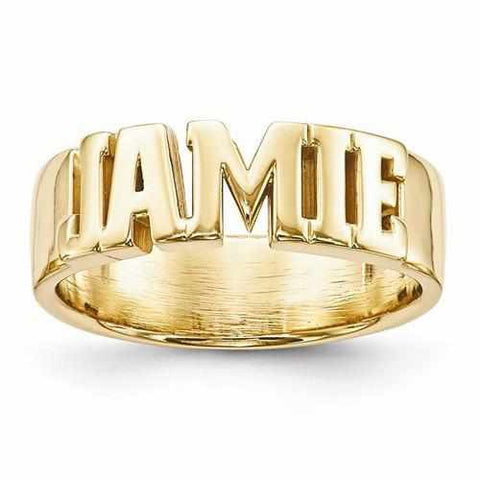 Image of Casted High Polished Name Ring - Rings - Aydins_Jewelry
