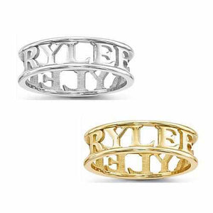 Casted High Polish Name Ring - Rings - Aydins_Jewelry