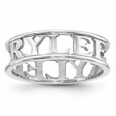 Casted High Polish Name Ring - AydinsJewelry
