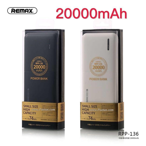 REMAX RPP - 136 20000mAh Power Bank - Black