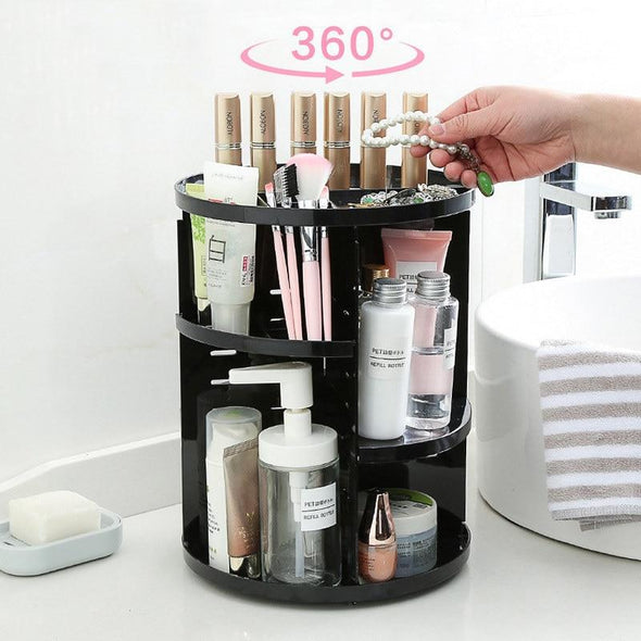 360-degree Rotating Makeup Organizer Box - fingla.com