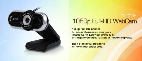 A4 Tech PK-920H 16 Mega Pixel Full HD Webcam - fingla.com