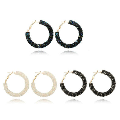 Austrian crystal hoop earrings - fingla.com