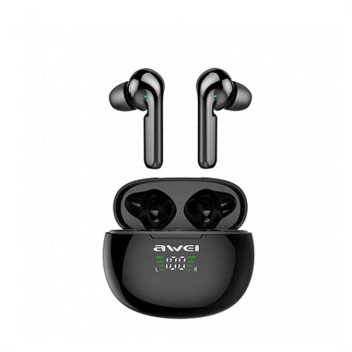 AWEI T15P True TWS Bluetooth Smart Touch Sports Dual Earbuds With Charging Case Black - fingla.com