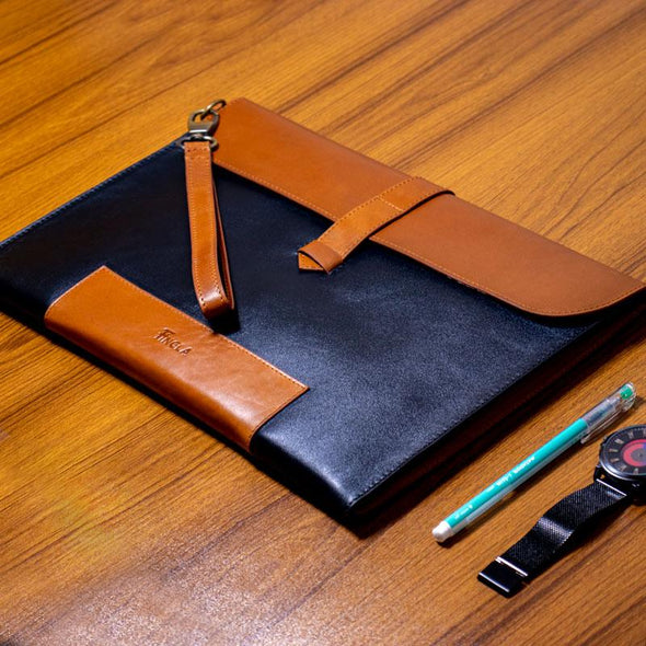 Beautiful Original Leather Luxury Office File - fingla.com