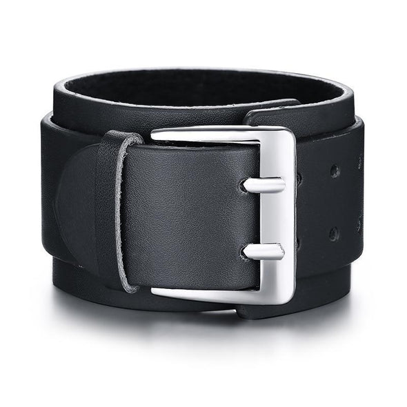 Belt Design Adjustable Casual Wrap Leather Bracelet - fingla.com