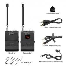 BOYA BY-WFM12 VHF Wireless Microphone System - fingla.com