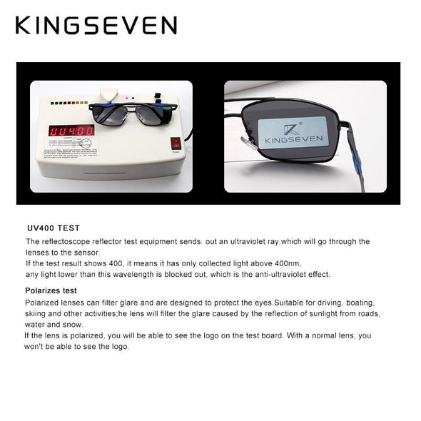 Classic Square Polarized UV400 Men's Driving Sunglasses Black - fingla.com